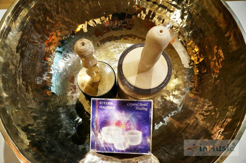 52cm 티베트 싱잉볼 속의 크리스탈 명상주발 음반 Crystal Bowl Healing by inMusic 인뮤직 / 뇌파 α알파파 사운드 테라피, 요가음악