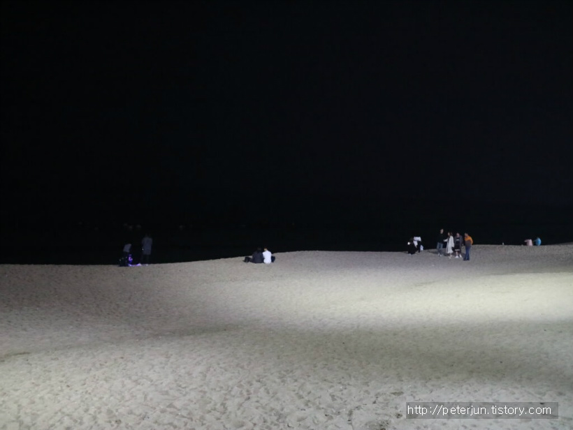 강문해변 밤