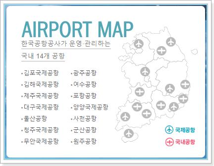 한국공항공사가 운영 관리하는 국내 14개 공항