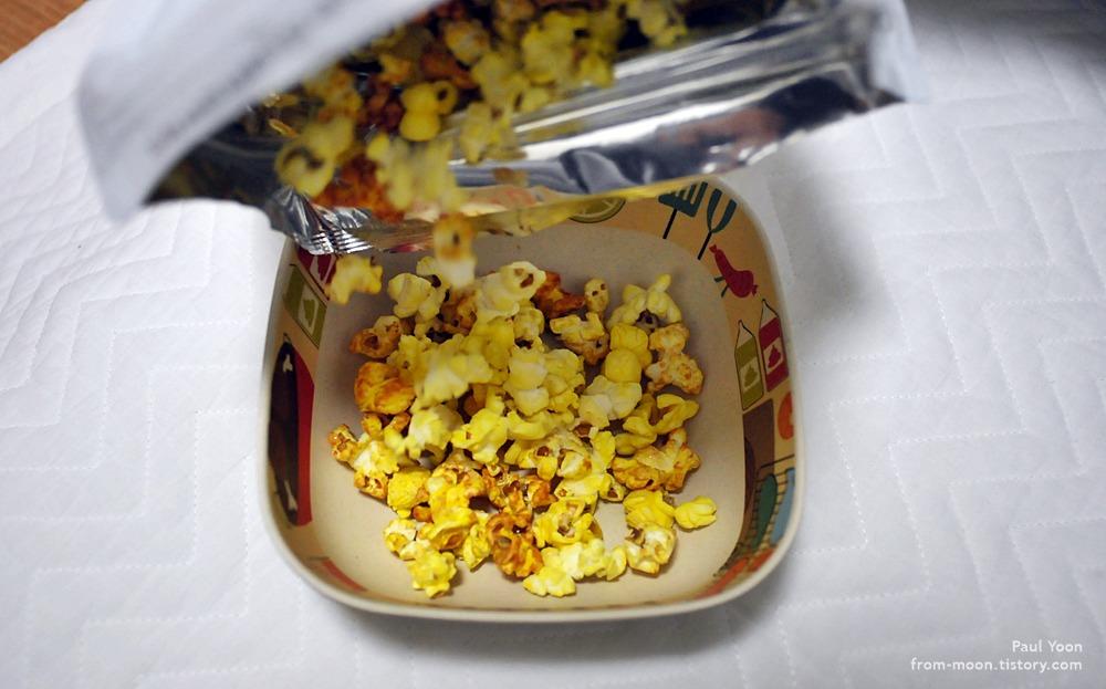 롯데마트에서 사먹은 큰 팝콘 (No Brand Popcorn / 롯데마트 팝콘 / 노브랜드 팝콘 / 카라멜팝콘 / 오리지널 팝콘)