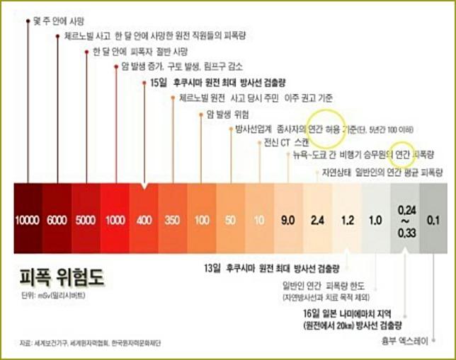 방사능 수치 기준
