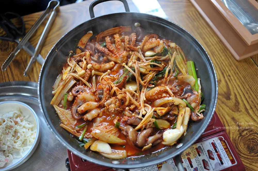 [천안 성정동 맛집] 은은하게 매콤한 텃골쭈꾸미 숯불구이 에서 먹은 쭈꾸미볶음 (천안 맛집 / 천안 쭈꾸미)