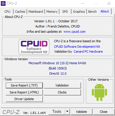 Download CPU-Z 184 - softpediacom