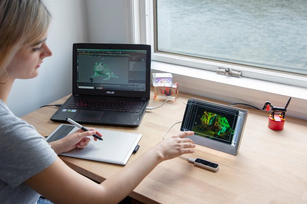 3D 실시간 입체영상 보여주는, 홀로그래픽 디스플레이 룩킹 글래스