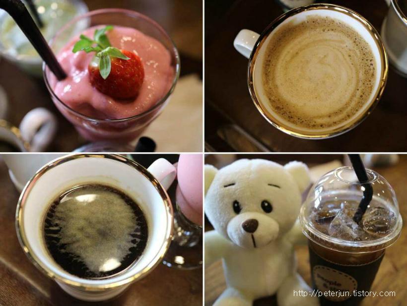다양한 카페 음료들