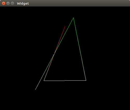 OpenGL ES Color Line 예제